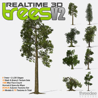Realtime 3D Trees V2 - 8 Pack
