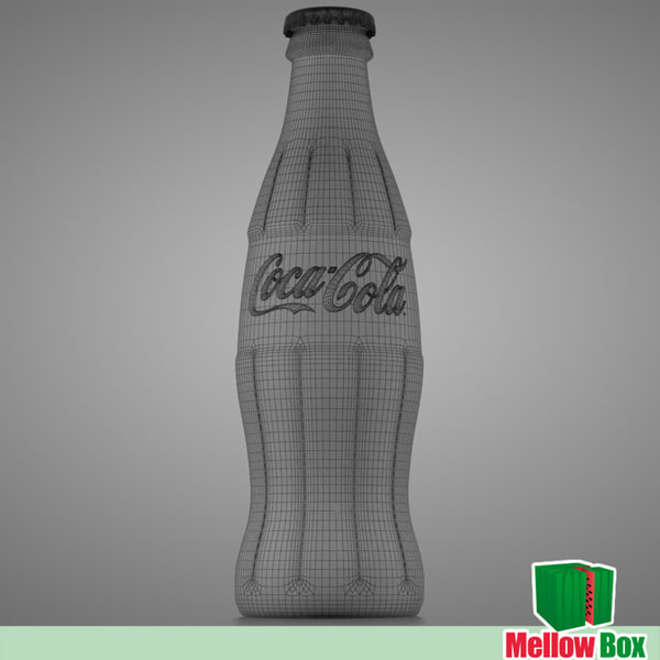 coca cola classic 3d model - Coca Cola classic - model... by mellow box