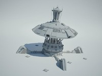 Futuristic Sci Fi Building 4
