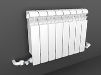 3d heating radiator global style model