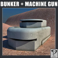 Bunker and M2 Browning Gun