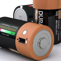 3d d duracell battery model