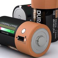 3d d duracell battery model