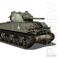 m4a3 sherman - production c4d