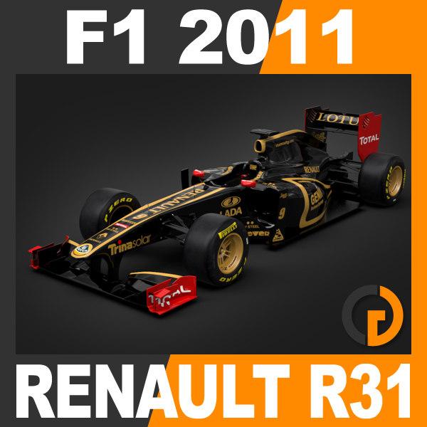 Renault Formula 1: Formula 1 2011 Renault 3d Model