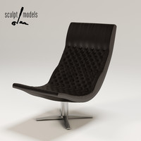 3d model of ds-51 chair
