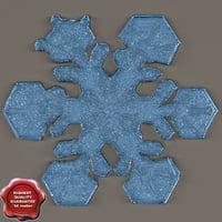3d model snowflake v1