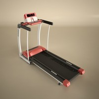 3d horizon rojo 4 treadmill model