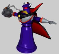 evil emperor zurg c4d