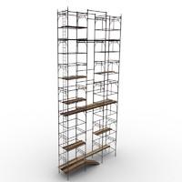 3d scaffolding work model