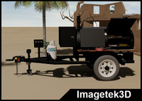 Propane Gas Single Axle Trailer Mounted Barbecue (BBQ) Grill