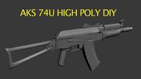Aks74u High Poly DIY