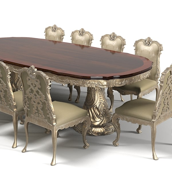 jumbo dining table chair stool set classic baroque wood carving carved luxury rococo.jpg