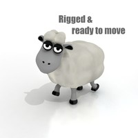 cartoon sheep rigged 3d model