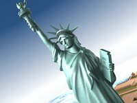 maya statue liberty flag usa