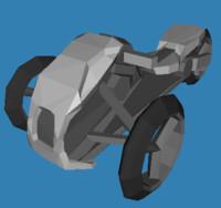 simple trirod 3d model