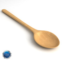 wooden spoon 3d model