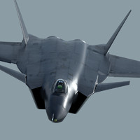 prototype stealth jet fighter 3d max