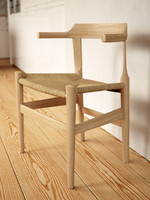 wegner pp58 dining chair 3d model