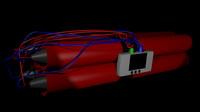 digital bomb 3d model