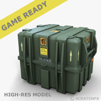 large military case 3d obj