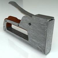 hand stapler 3d model