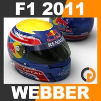 F1 2011 Mark Webber Helmet