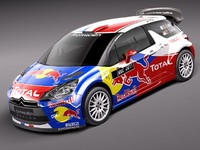 3d citroen ds3 wrc racing model
