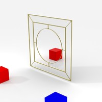 3d model fancy mirror