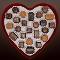 maya valentine chocolates heart