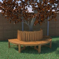 tree seat 3d 3ds