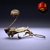 chimera figurine original 3d max
