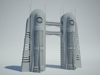 Futuristic Sci Fi Building 6