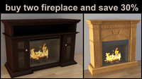 pack fireplace 3d max
