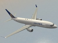 boeing 737-800 united airlines 3d model
