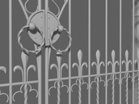 gothic gate 3d model