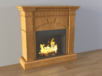 3d wood fireplace classic flame