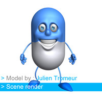 3d cartoon character model