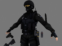 3d swat intruder package model