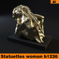 woman statue statuettes 3d model
