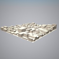 city block 3d model