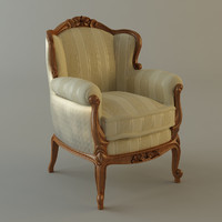 3ds max classical armchair
