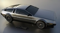3d model dmc delorean