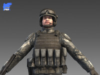 universal soldier 3d model