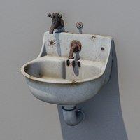 Old public sink