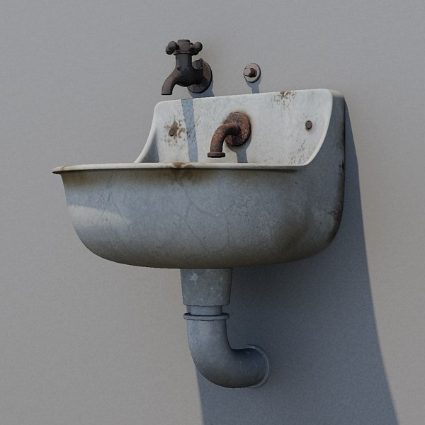 3d public sink model - Old public sink... by FraP