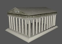 3d greek temple parthenon model