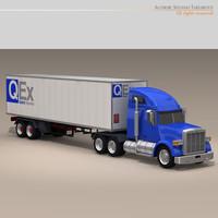 3d freight truck model