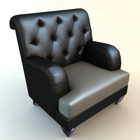 armchair chesterfield chair 3d model