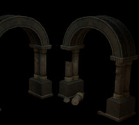 3d model archway window pillars